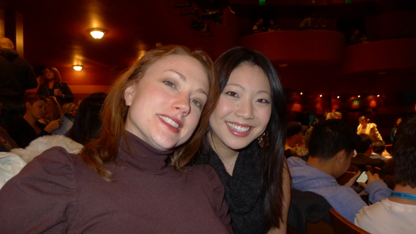 Lauren Petre and Cindy Chu at Salvation Boulevard screening, Sundance 11