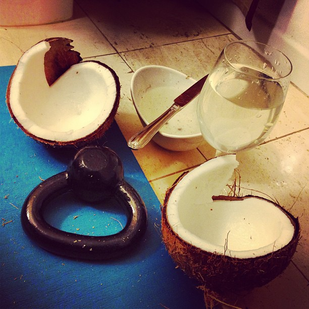 The first coconut I ever cracked